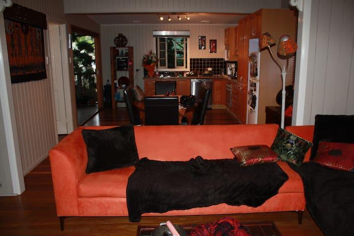 Warm, comfortable lounge area