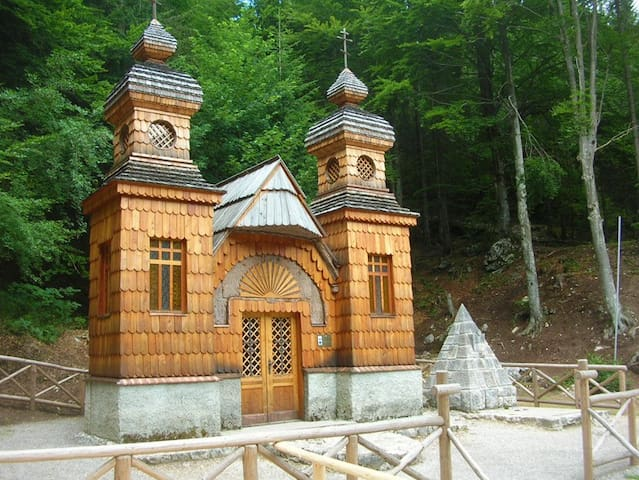 The famous Russian chapel is on the way from Kranjska Gora to Vršič and perfect cyclic trip.....