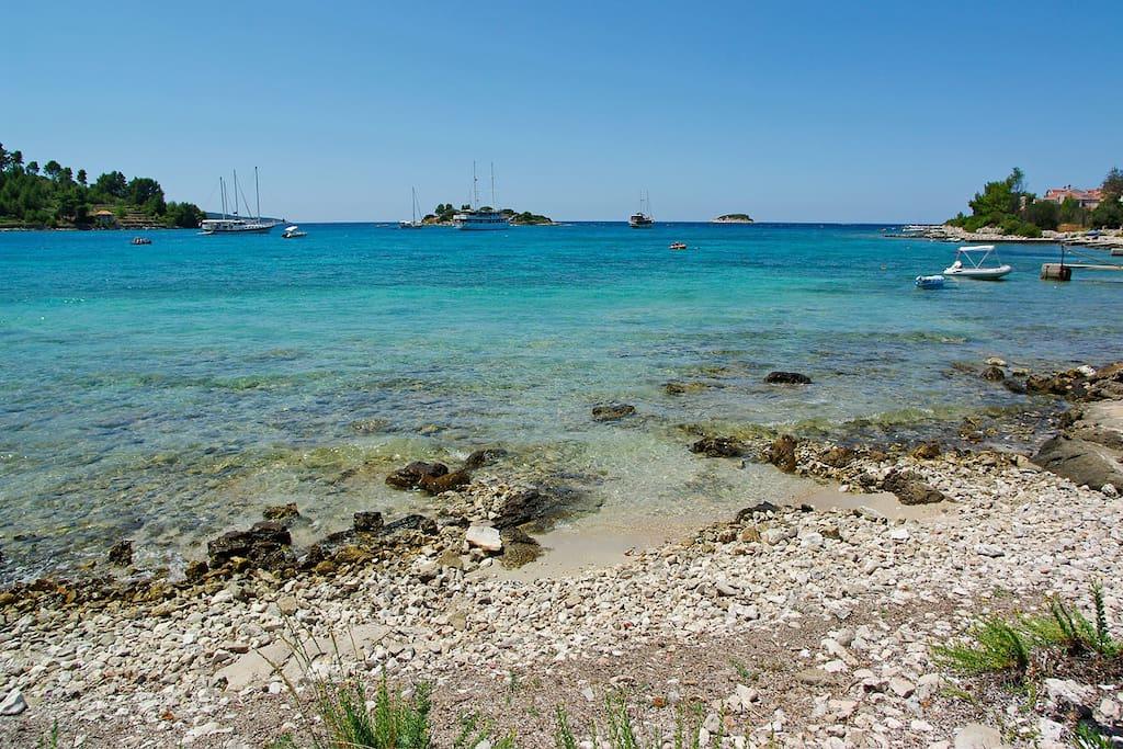 Beach in Gradina bay