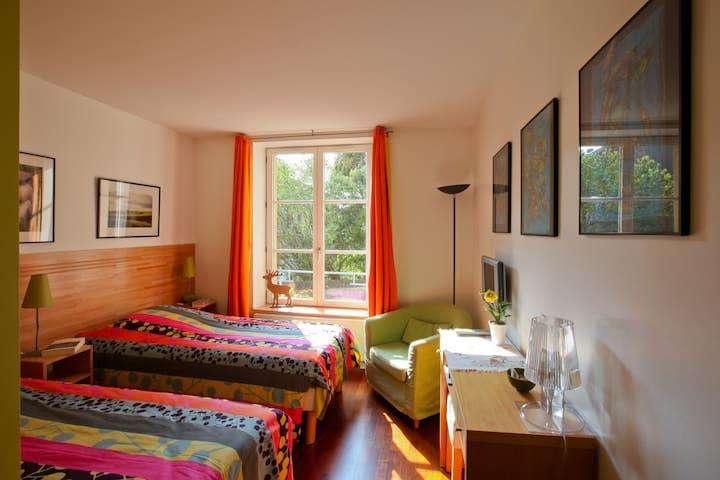 lits jumeaux et  déjeuner copieux - Scy-Chazelles - Bed & Breakfast