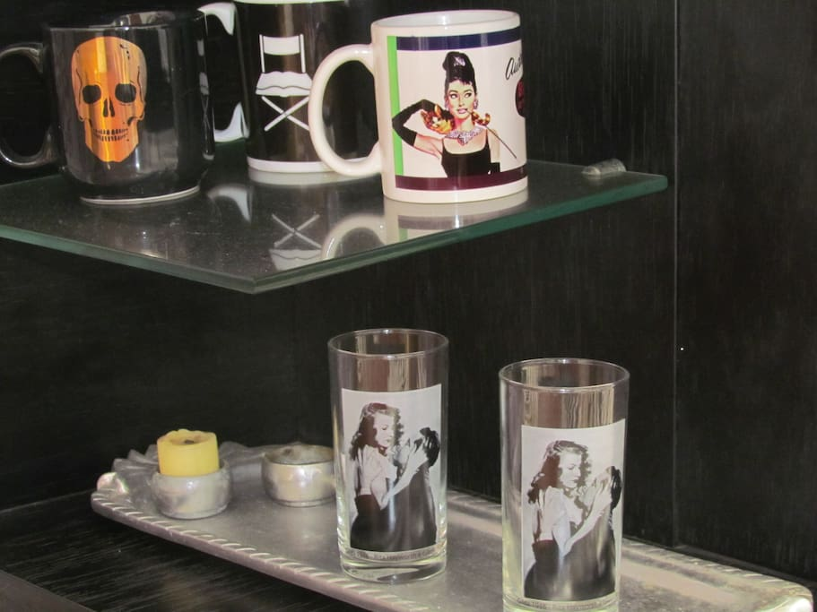 whisky glasses with film stars