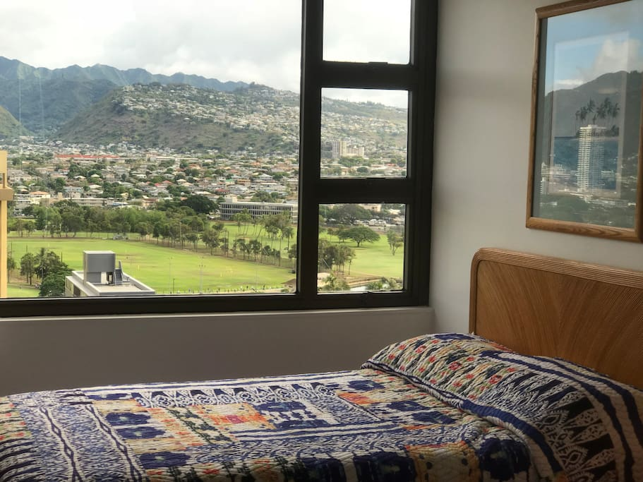 Mountain view from bed room