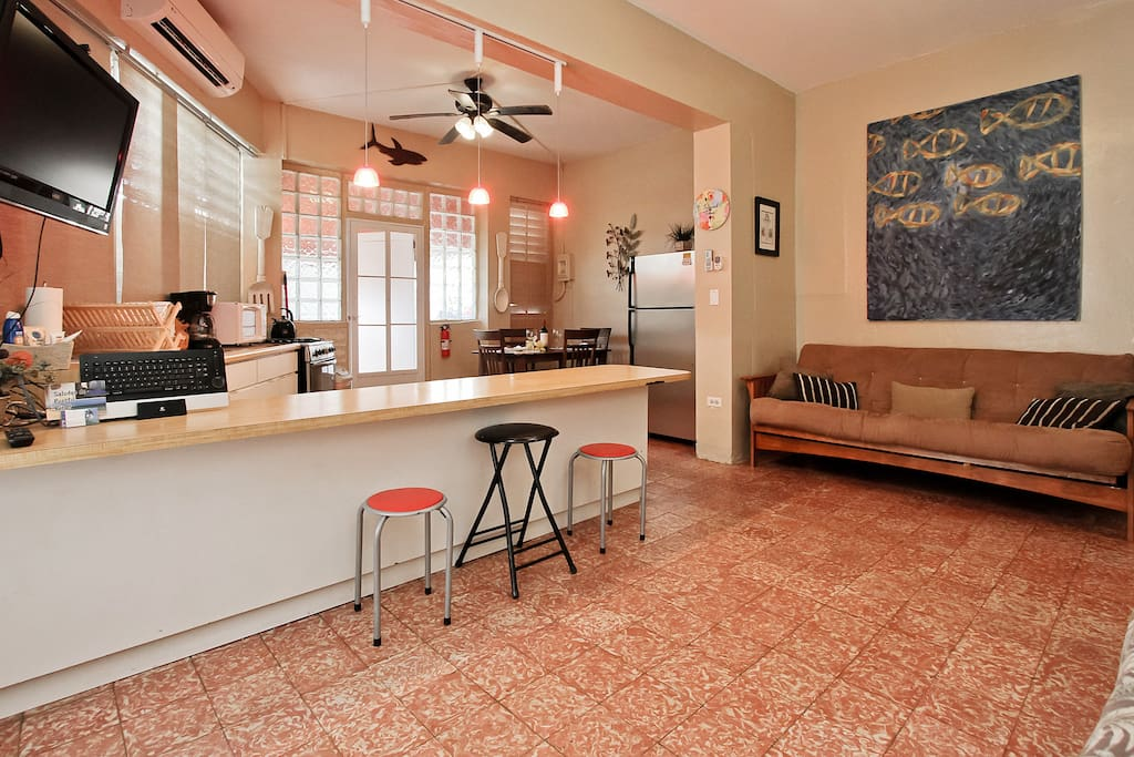 Full apartment rental in San Juan Puerto Rico - spread out and feel at home.