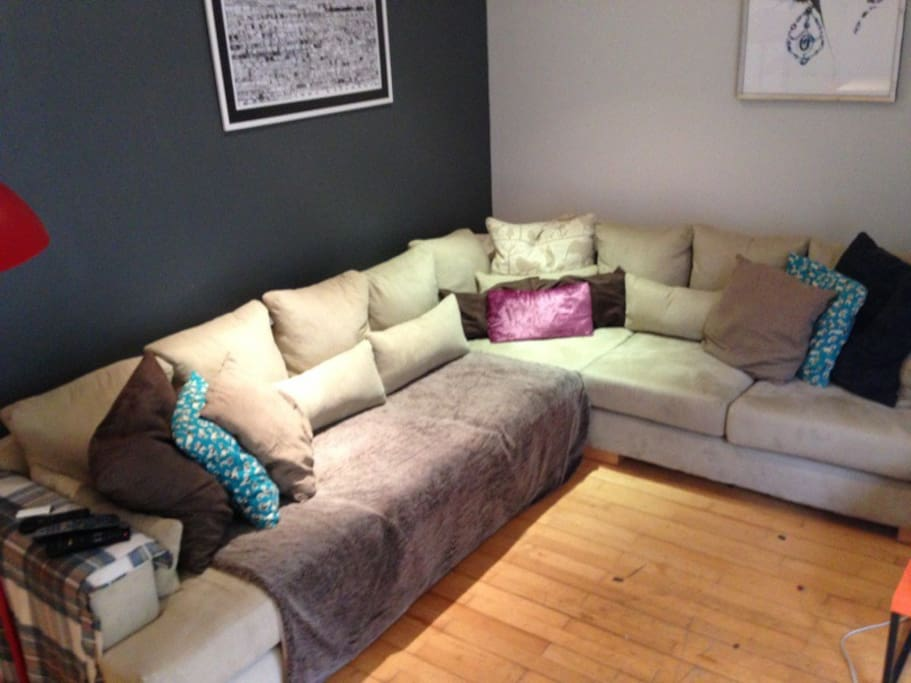 extremely comfortable large L shaped sofa!
