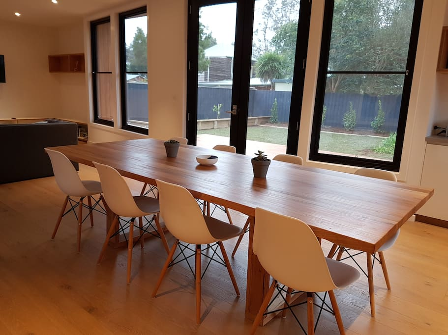 Huge dining table with great north facing light