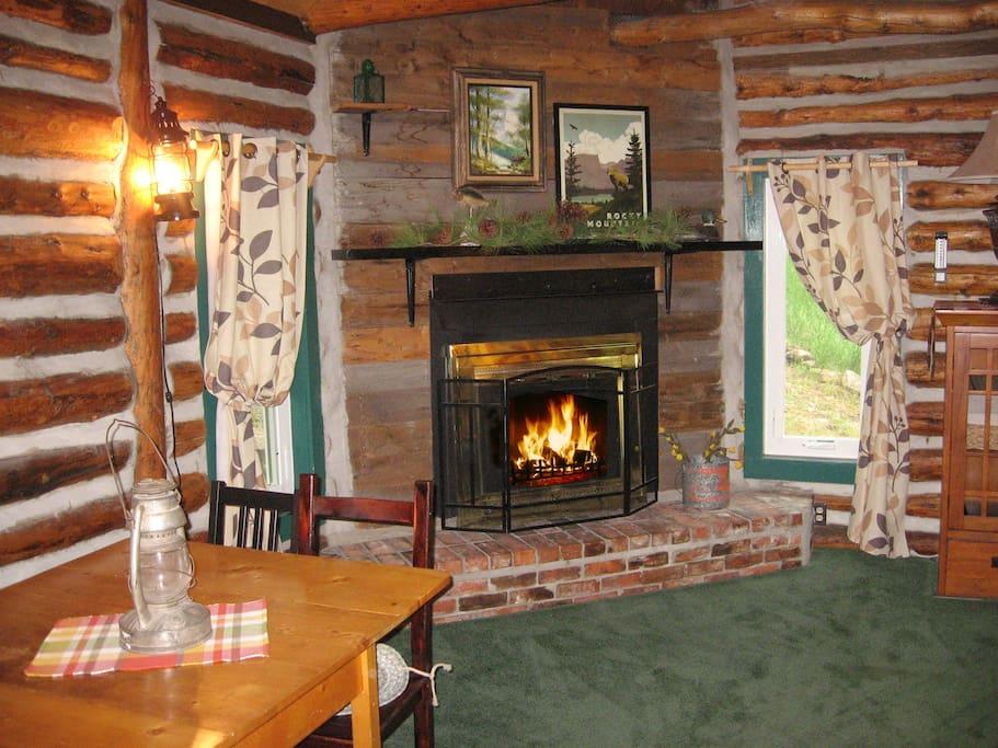 Enjoy cozy fireside setting  in the great room.
