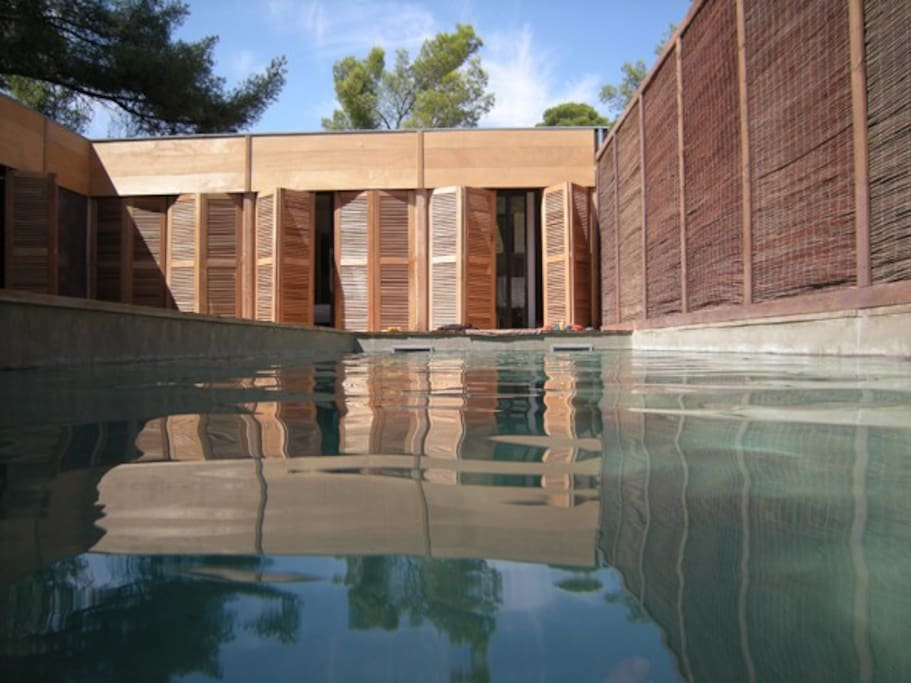 Maison contemporaine piscine foret maisons louer - Amenagement piscine contemporaine marseille ...