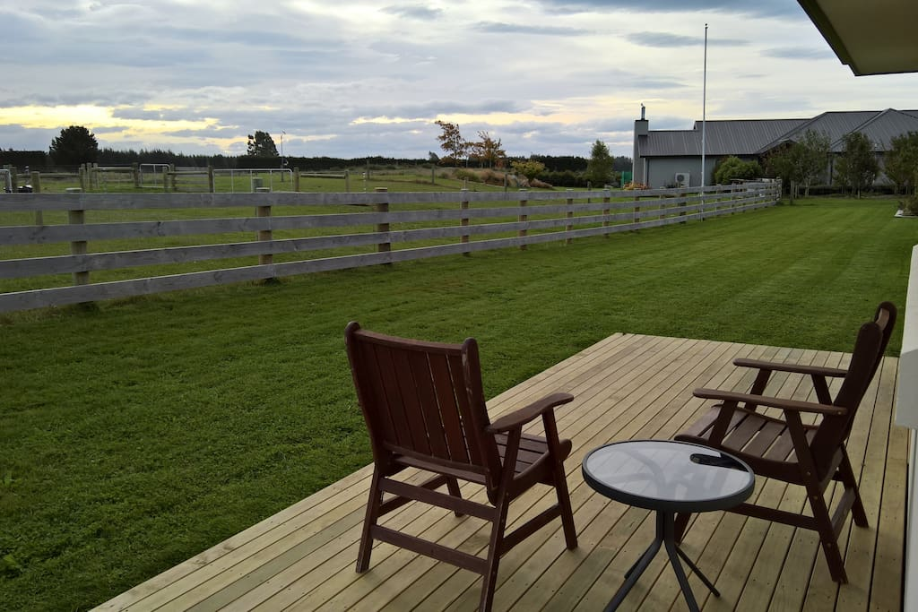 Private decking with rural outlook and amazing sun sets