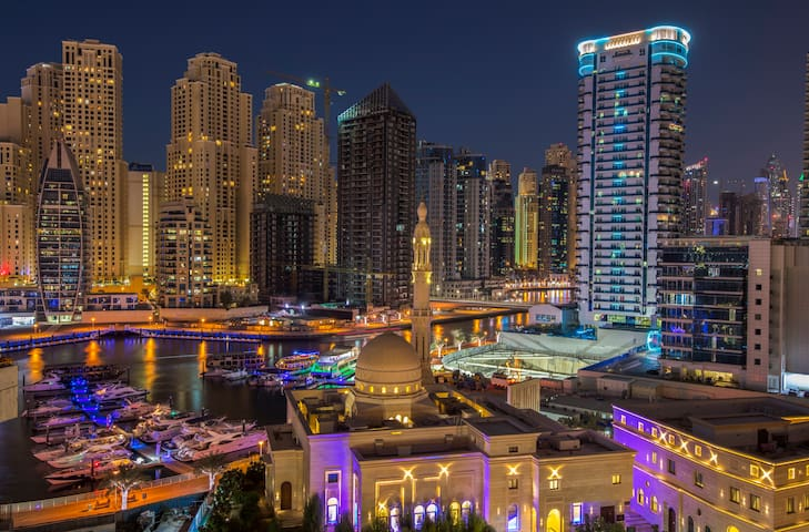 Luxury Marina apartment, water view & pool - Dubaj - Apartament
