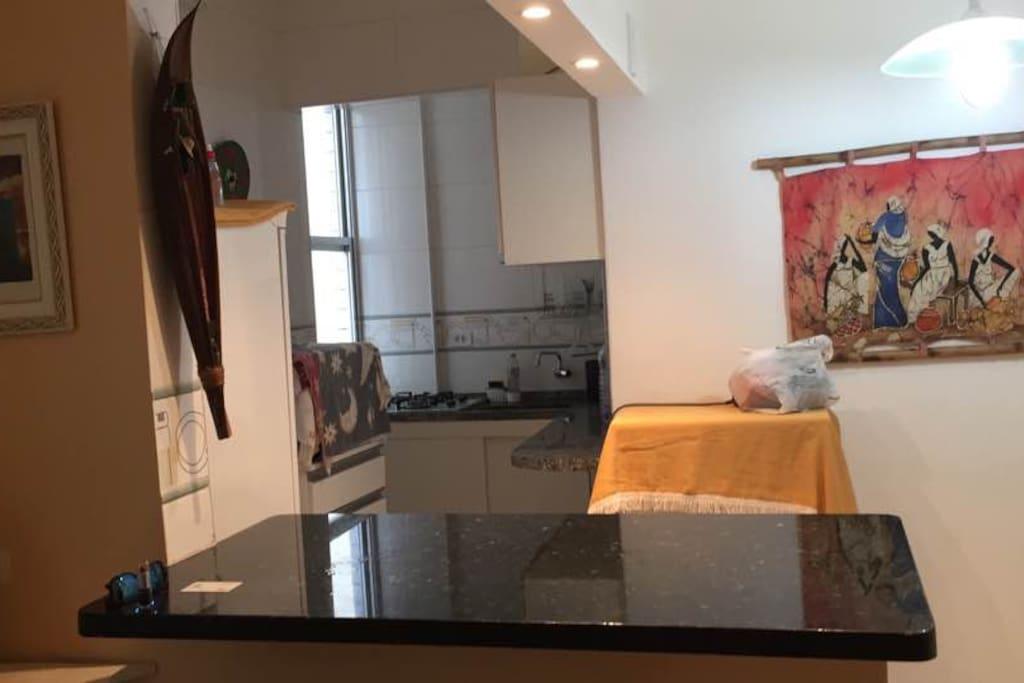 cozinha vista da sala
