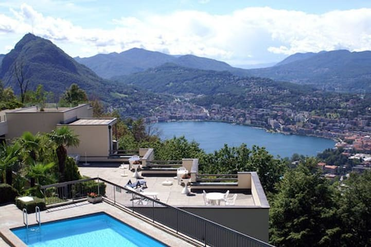 Studio Apt. at Mt. Bre / Lugano - Lugano - Daire