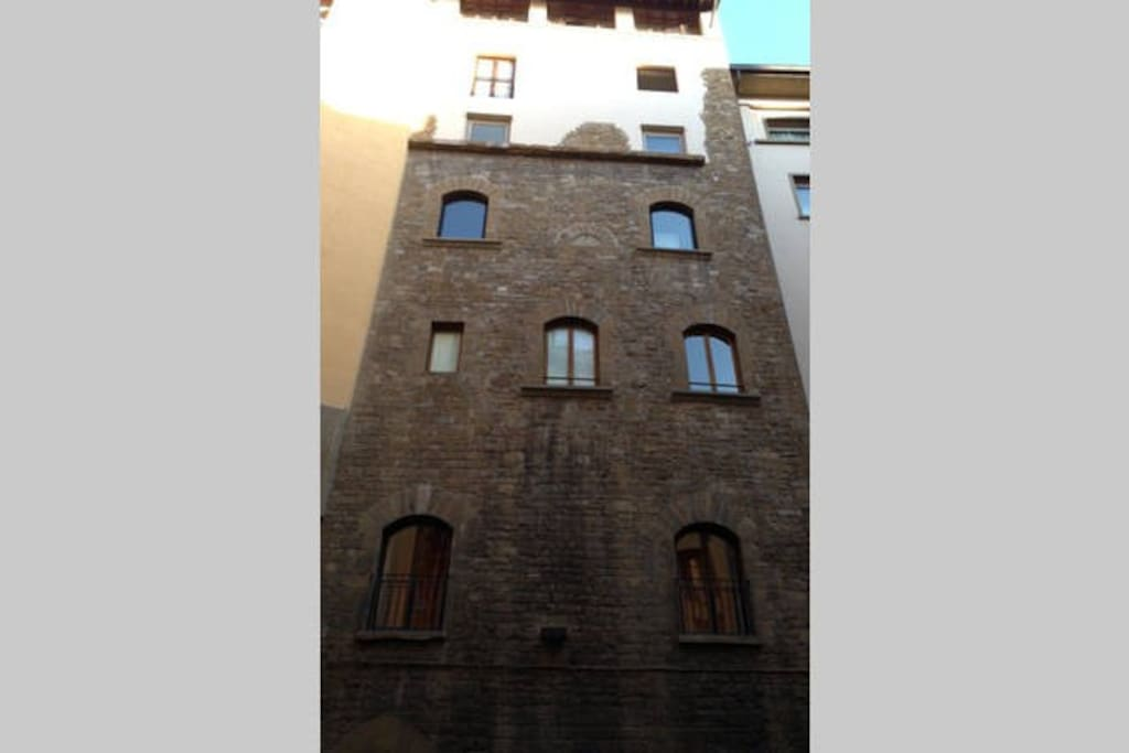 Inside an old tower on Ponte Vecchio