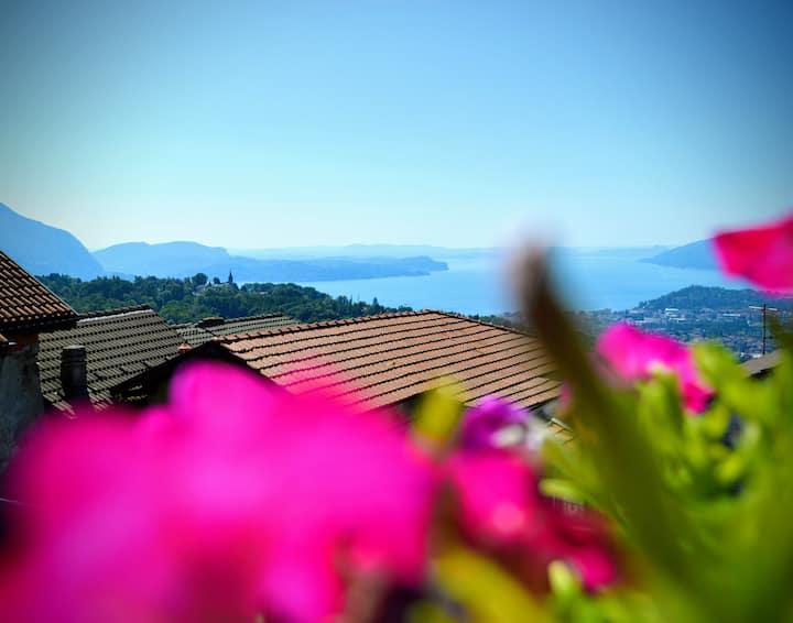 Incantevole vista sul Lago Maggiore