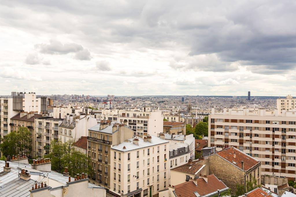 T 3 75m Paris Terrasse Belle Vue Appartements Louer