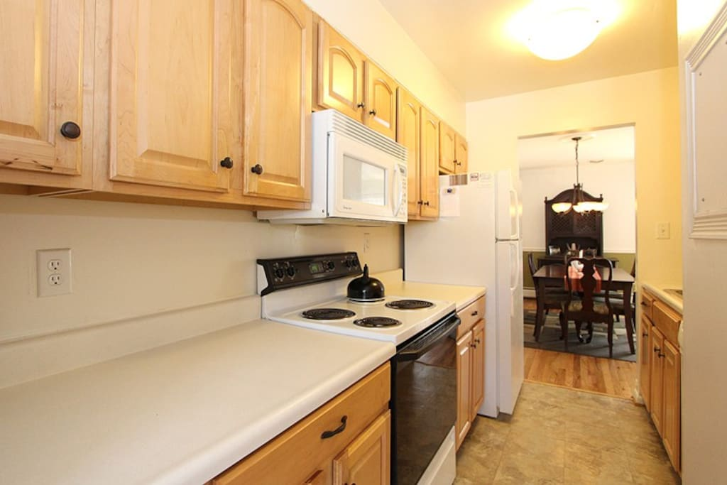 Fully furnished kitchen and dining