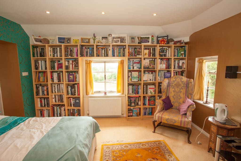A massive range of books for you to browse during your stay.