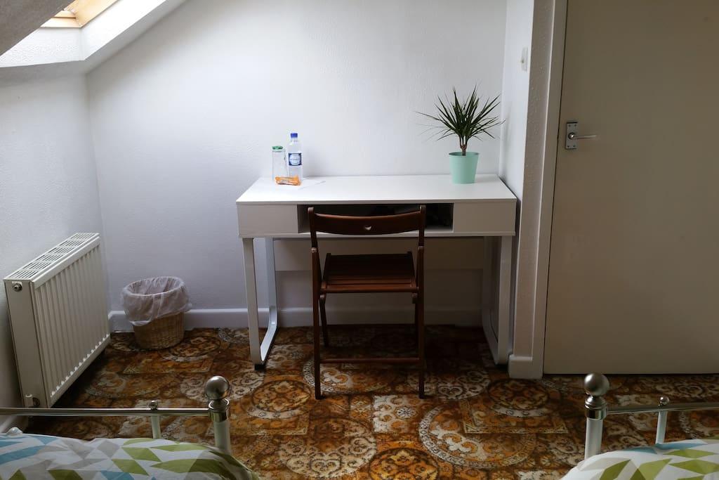 Desk in guest room