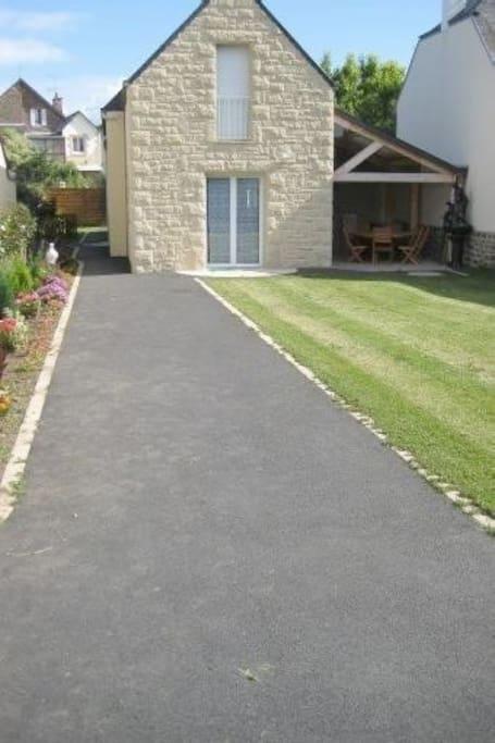 entrée de la maison