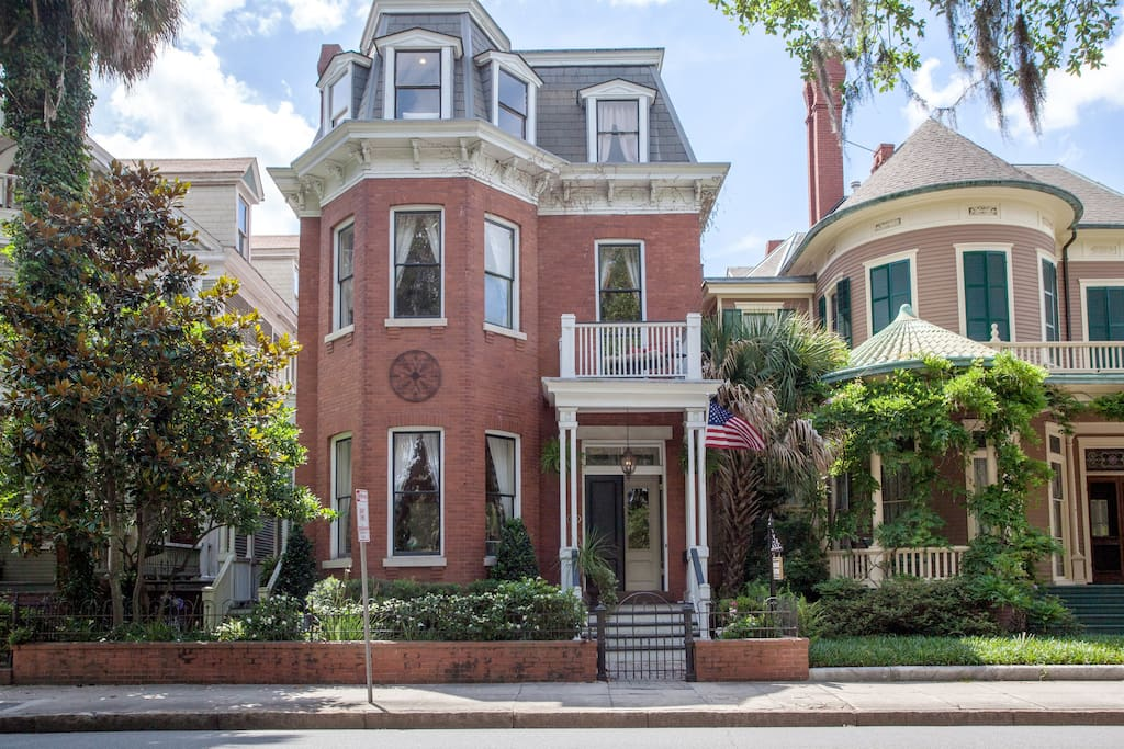 Front of our Victorian house facing Forsyth Park.  Built in the 1890s for Lilly Byck Collat.
