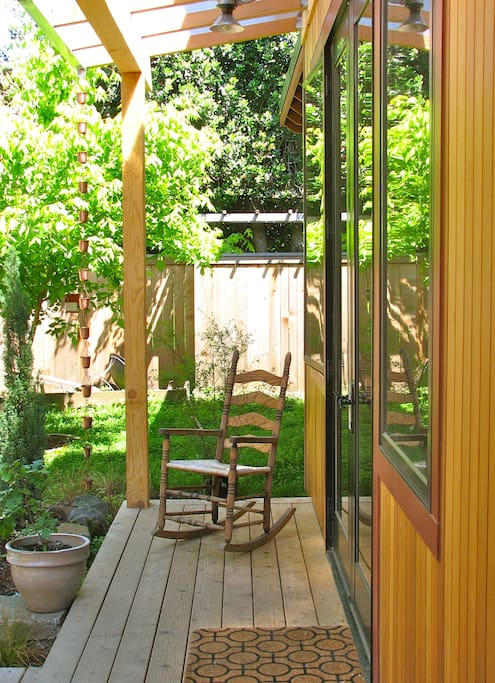 Enjoy coffee or a glass of wine on the porch