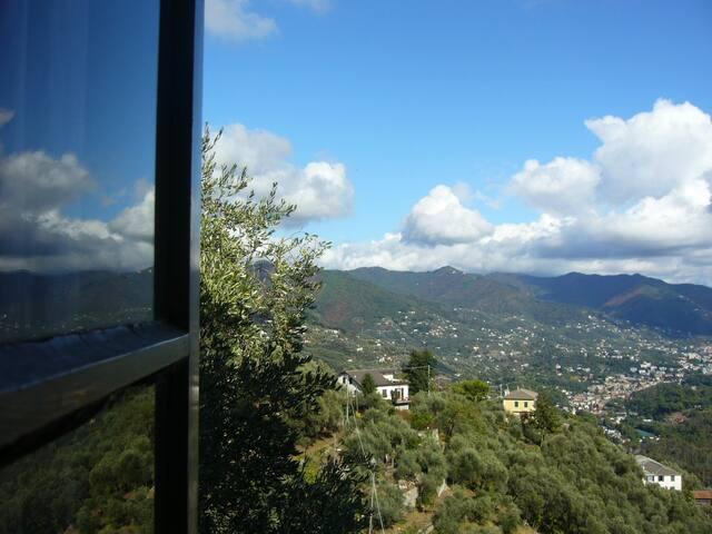 Ca' dei Pini: villetta, giardino e vista stupenda - Rapallo - Villa