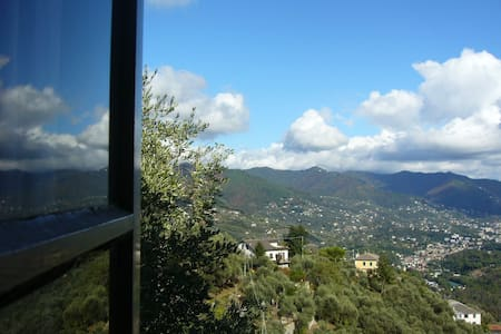 The whole Ca' dei Pini, house and garden with view - Rapallo
