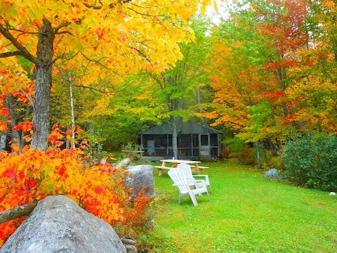 Lakefront Log Cabin N. Maine Woods