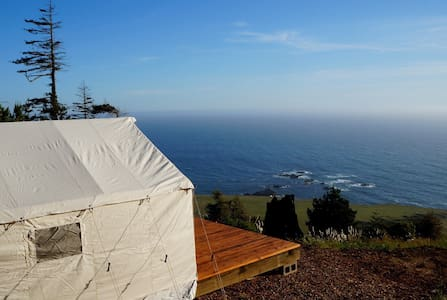 Glamping tent 400 feet above the Pacific Ocean - Stewarts Point - Barraca