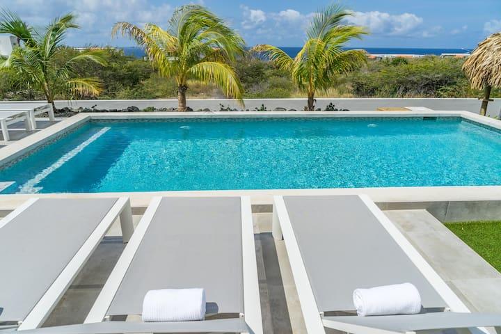 luxe vakantie villa met panoramisch zeezicht - Jan Thiel - Rumah percutian