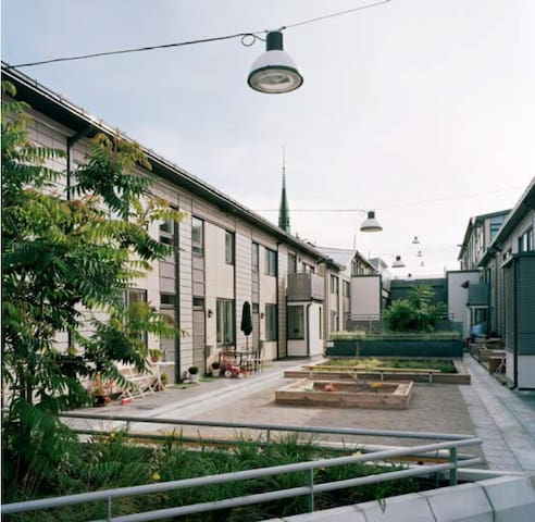 Rooftop townhouse in Stockholm City