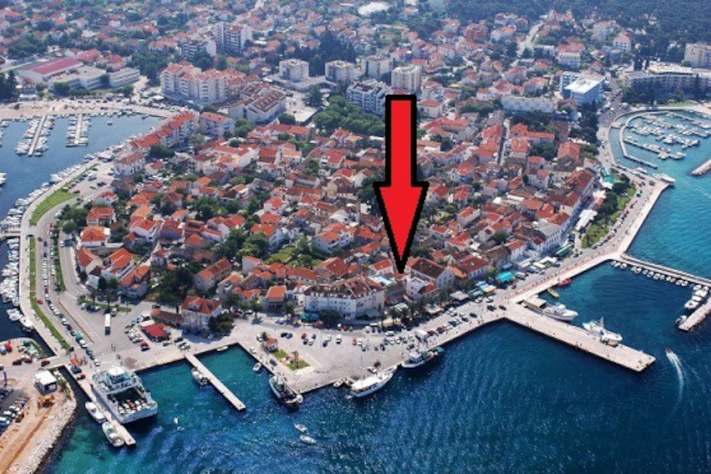 house location in biograd old town