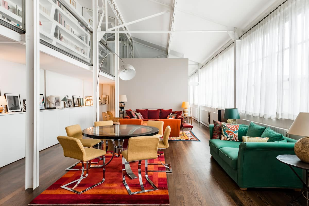 Room in an Industrial Chic Loft Near Le Marais