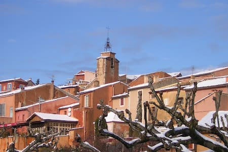 Roussillon A view and pool villagehouse in Luberon - Roussillon - Wohnung