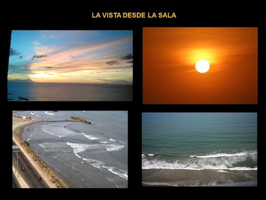 Excelente vista y silencio total, solo las olas y la brisa del mar, ideal para su descanso