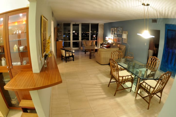 Spacious Dining & living room with spectacular view