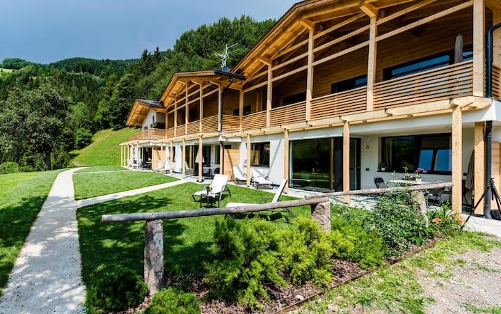 130C - Trilocale con giardino e vista panoramica