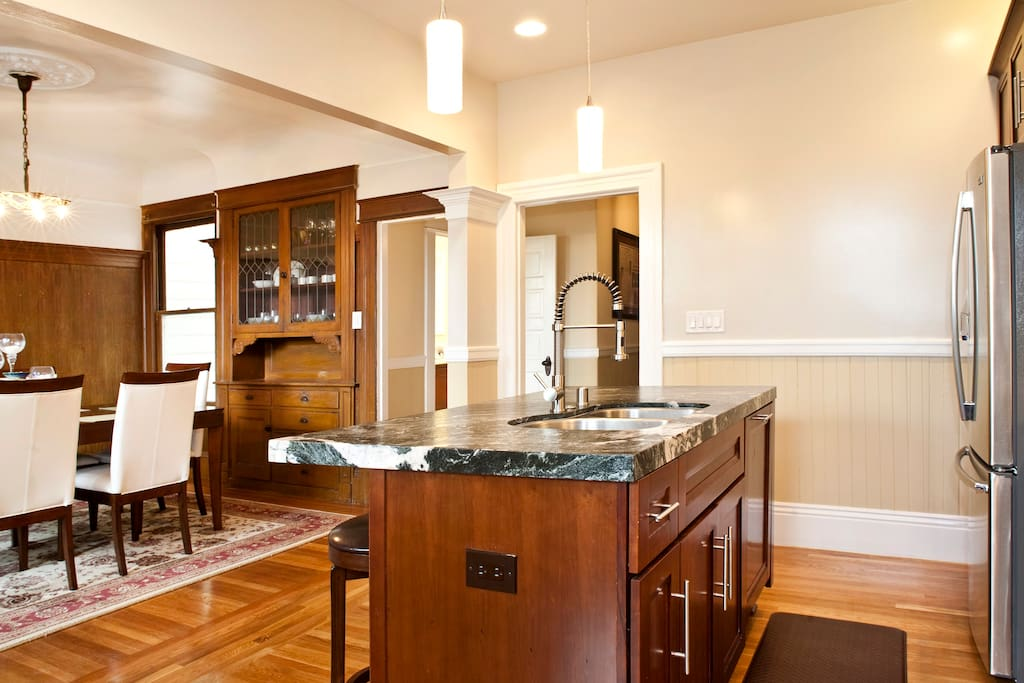 Gourmet Kitchen with Double Sink and Boshe Dishwaher