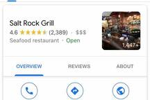 Looking for a special night out at an more of an upscale restaurant?  This is our recommendation.  The Salt Rock Grill.  Excellent food, ambiance, wine list, and service.  Always have several fresh catches of the day.  Check it out on-line.