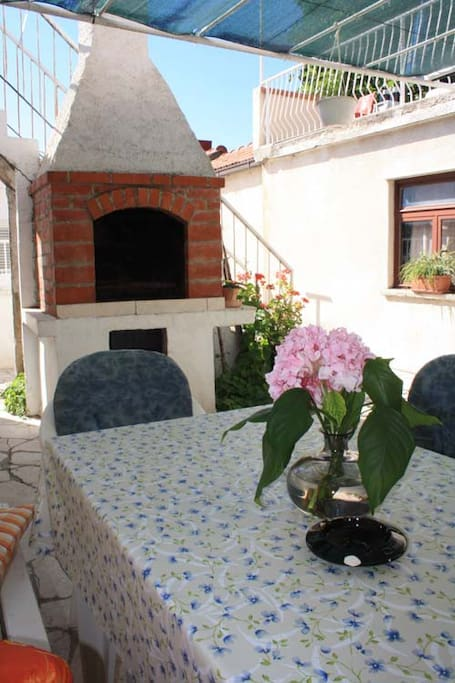 Terrace and barbecue