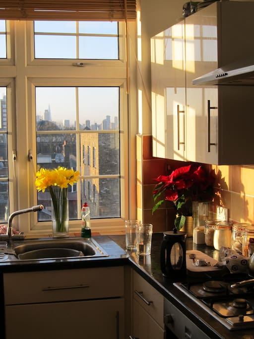 you can see the Shard building from our kitchen window!