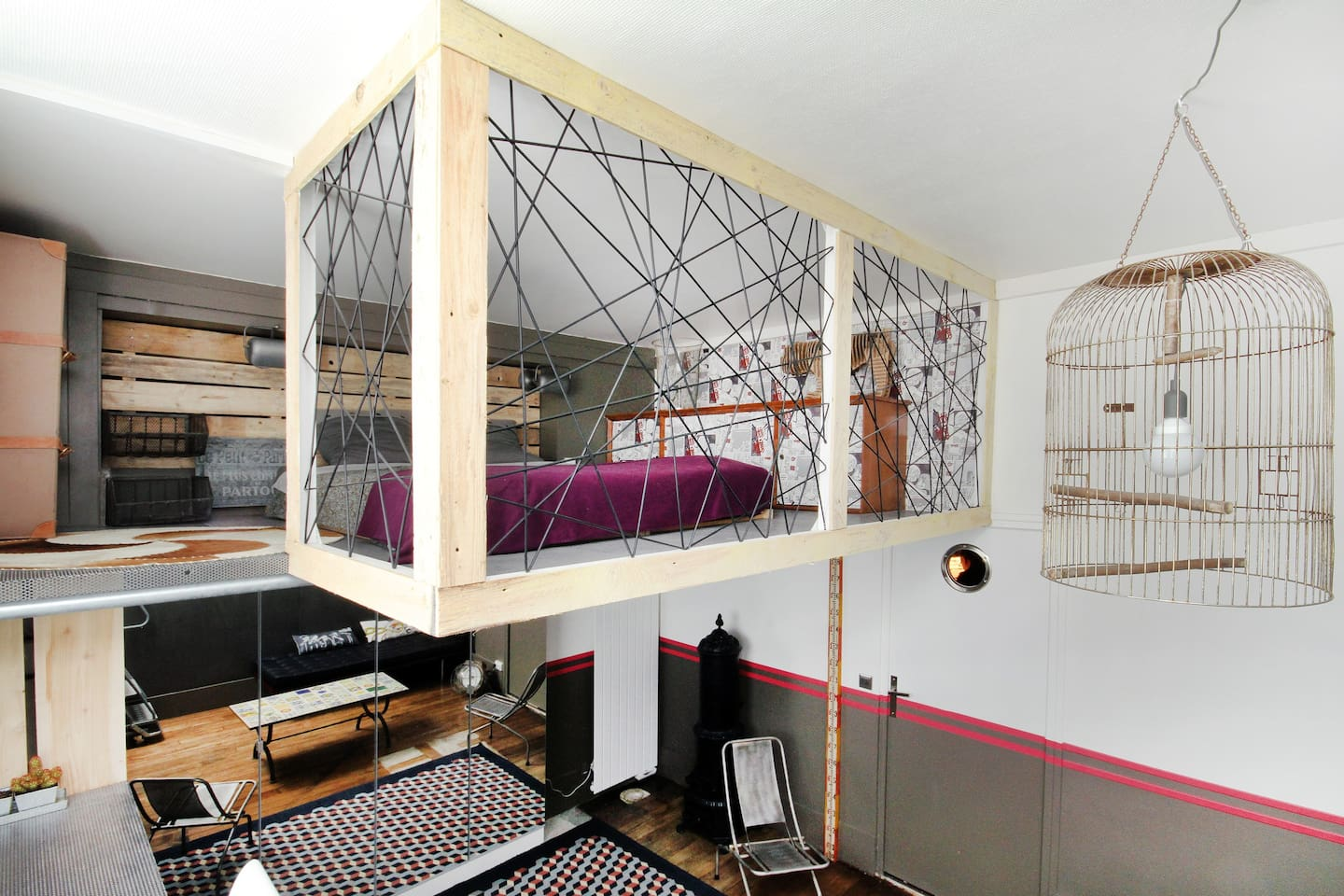 comfortable design mezzanine bed