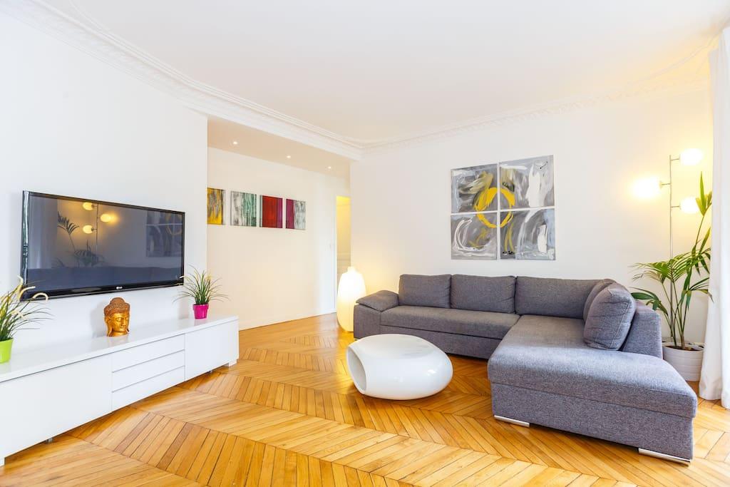 Appartement design de 100m2 paris15 appartements louer for Location appartement design