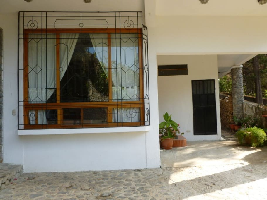 Outside view of the apartment with private entrace