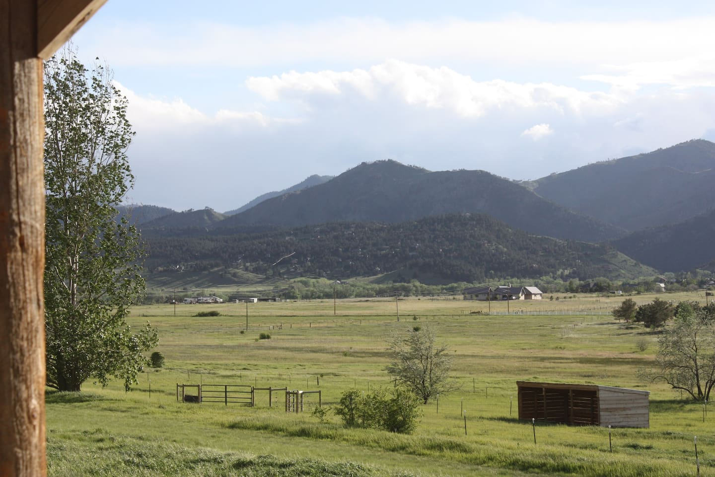 Western view over Foothills from private porch