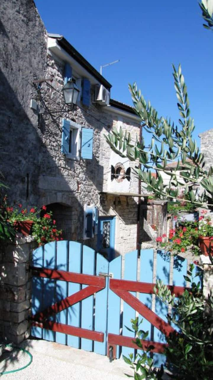 Restored Istrian stone house apt Konoba