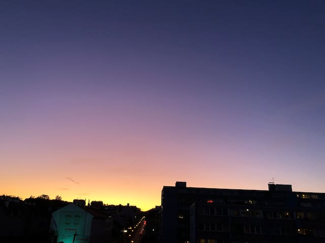 Sometime we can see a sunset like this from the balcony :)