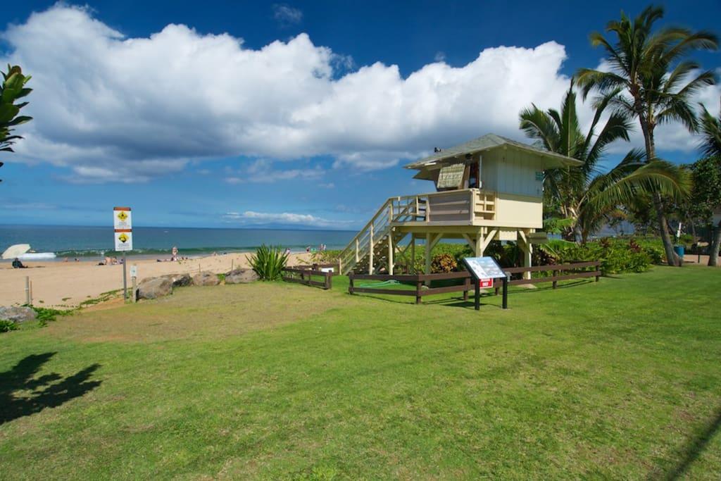 County of Maui Lifeguard Stand at Kamaole Beach II