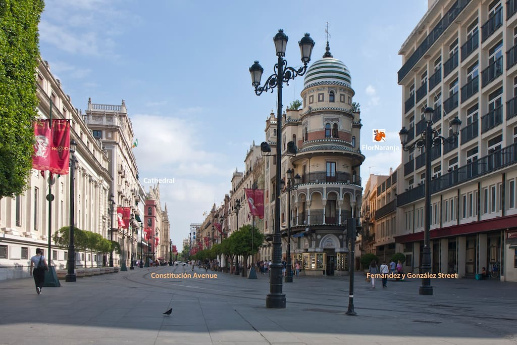 Next to cathedral flor naranja apartment wifi a c for Alquiler en sevilla centro particulares