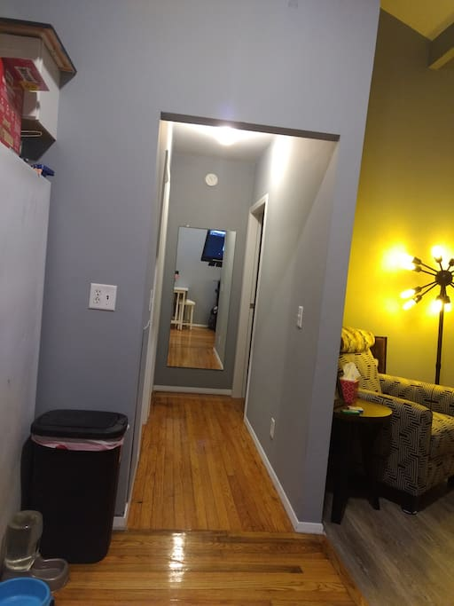My Hallway isn't really slanted like this picture.