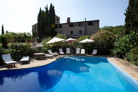 Tower-House with pool in the park - Castellina In Chianti - Apartament